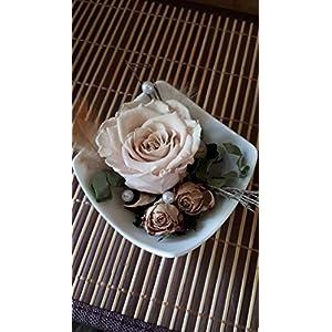 Gesteck mit gefriergetrockneter Rose, Geschenk, Deko, Dekoration