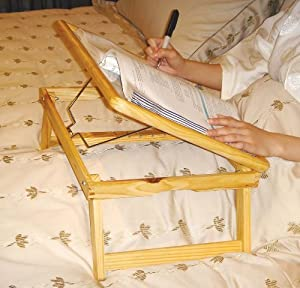 Solid Wood Bed Tray - Adjustable for eating reading etc