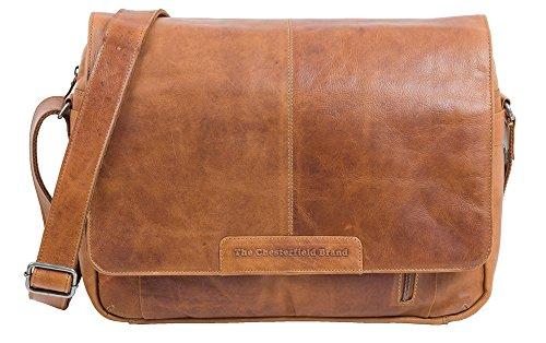 The Chesterfield Brand Überschlagtasche Laptoptasche Leder Cognac Braun