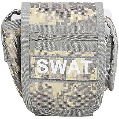 edc Utility Gadget Pouch cintura borsa tattico militare Fanny Pack Cellulare/iPhone 6S Plus fondina in nylon per escursionismo, ciclismo, corsa,, ACU