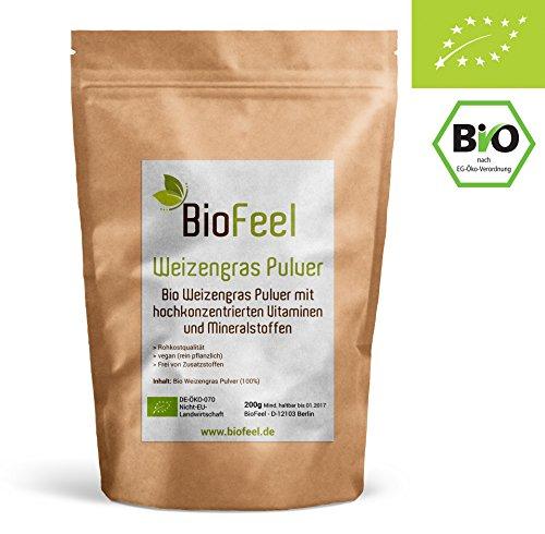 BioFeel - Bio Weizengras Pulver, 200g - Neuseeland