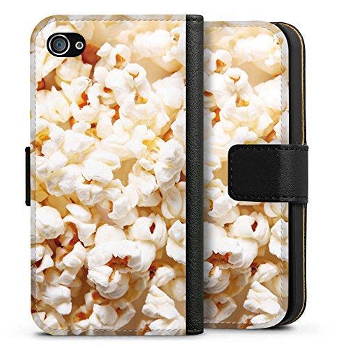 Apple iPhone X Silikon Hülle Case Schutzhülle Popcorn Kino Poppin Corn Sideflip Tasche schwarz