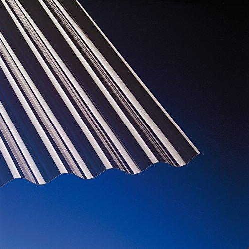PVC Wellplatten Sinus 76/18 bronce ohne Struktur 2000 x 900 mm Typ 900