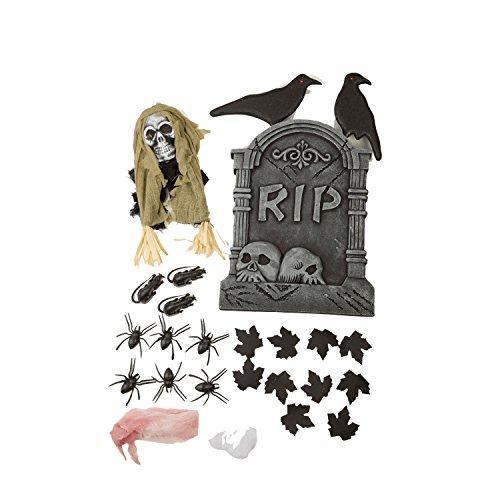 viving Kostüme viving costumes204480Set von Halloween Dekoration (54x 40x 8cm) (Country Club Halloween-party)