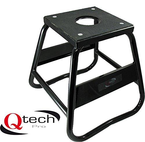 Qtech Motorrad Bike Boxständer sehr robuste Aluminium-Legierung tragbar mit 100kg Traglast Enduro Ablassbohrung Trial