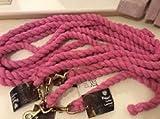 Pferde-Führleine in pink von Rhinegold mit Messing Trigger Haken