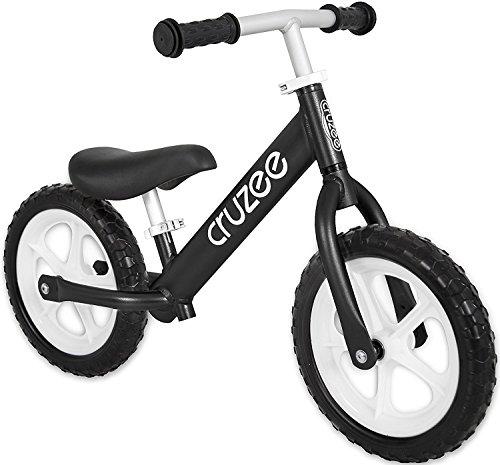 Preisvergleich Produktbild Cruzee BLACK - UltraLeicht Laufrad (1,9 kg) fur kinder ab 1.5 bis 5 Jahre
