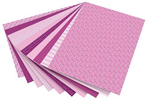 Folia 46309 - Motivkarton Basics, 50 x 70 cm, 10 Bogen sortiert, rosa