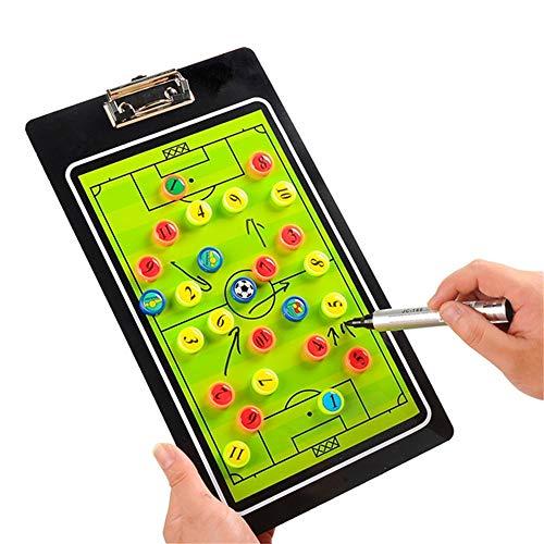 PhantomSky Professionel Stilvoll Fußball Taktiktafel Taktikmappe Coach Board Coach Mappe für die Spielanalyse oder Schulung mit Magnete, Stifte und Radiergummi (Größe: 35cm x 20cm)