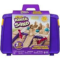 Kinetic Sand 6037447 - Kinetic Sand Sandspiel Koffer, Spielsand, Kneten, Sandförmchen, Vorschulkind, Geschwisterspiele