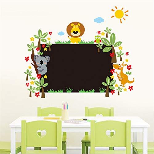 Hlonl Niedlichen Lion Tier Wandaufkleber Pvc Kreide Bord Tafel Aufkleber Aufkleber Für Kinder Baby Zimmer Kindergarten Klassenzimmer Dekoration