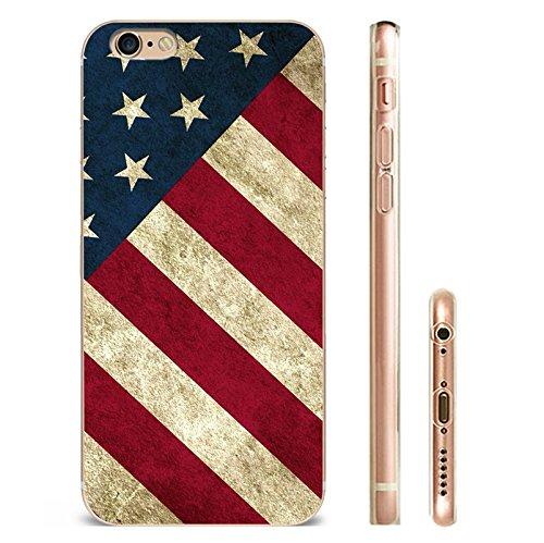 IPHONE 6plus Hülle USA Deutschland Fahne Muster Silikon TPU Schutzhülle Ultradünnen Case für iPhone 6plus/6splus gq10