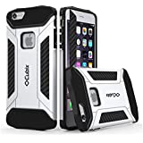 Cubix® Tough Armor Case For Apple IPhone 6 Plus Hybrid Shockproof Case For Apple IPhone 6 Plus (Silver)