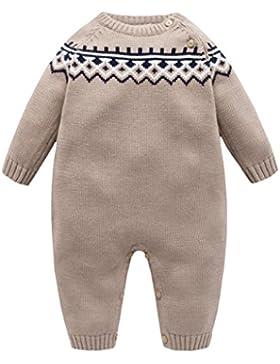 Bebé Mameluco Prendas de Punto niño para Invierno Vine Suéter de niño Suéter Pullover Mangas largas