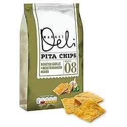 Walkers Market Deli Garlic & Herbs Pita Chips 165g