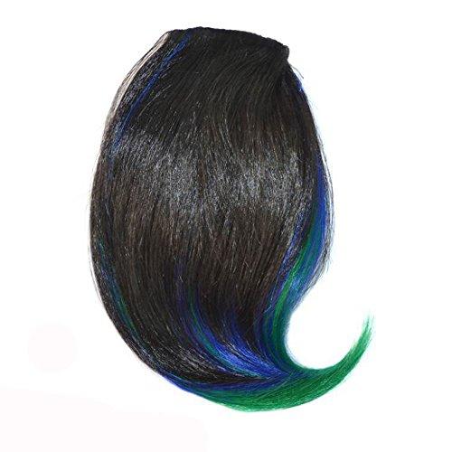 TianWlio Perücken Damen Hübsche Mädchen Clip Auf Clip im Vorderen Haar Bang Fringe Haarver Längerung Stück Dünn