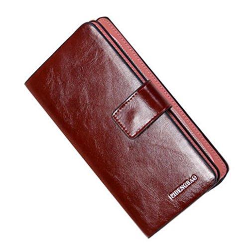 Portafoglio Donna, Tpulling Sacchetti di mano della borsa della frizione della borsa della borsa della borsa di Hasp delle donne (Black) Brown