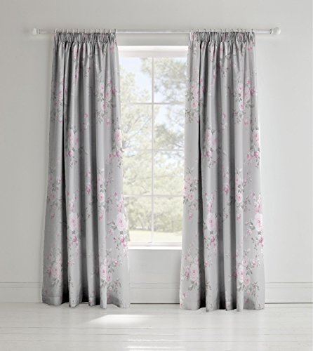 Catherine Lansfield Canterbury, grau, Curtains