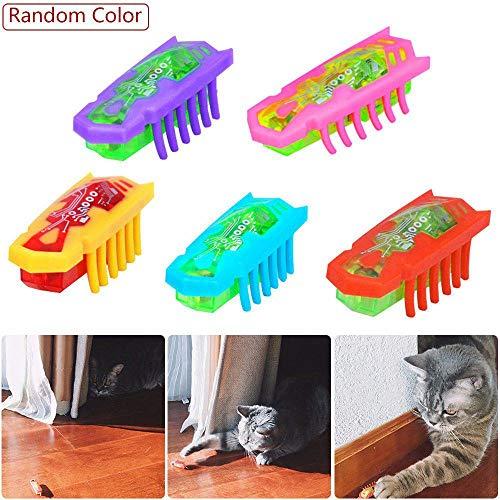 Womdee Katzenspielzeug zum Zerreißen von Katzen, angetrieben, schnell bewegend, Mikro-Robotik-Käfer-Spielzeug, Katzenspielzeug für die Unterhaltung Ihrer Haustiere Zufällige Farbauswahl
