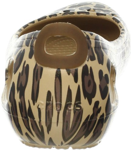 Crocs Kadee Leopard, Ballerines femme Or (Gold/Black)