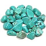 Merssavo Azul-Verde-100g Turquesa Decorativo para Jardín Piedra Piedras de Decoración del Jardín