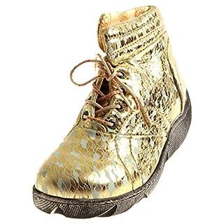 Eject 17307 Damen hoher Schnürschuh Bootie Lederschuhe Schuhe Knöchelschuhe Einlagen Cloud Green EU 40