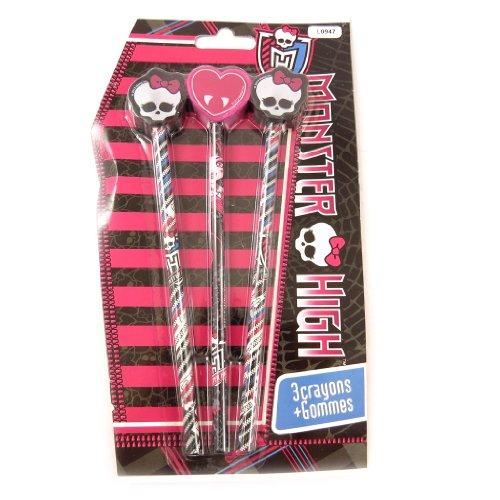 Monster High [L0947] - Schul-set 'Monster High' schwarze rose.