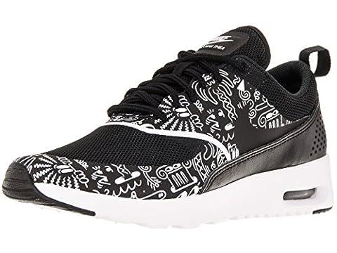 Nike Wmns Air Max Thea Print, Chaussures de Sport Femme, Blanc (Noir / Blanc), 38 EU
