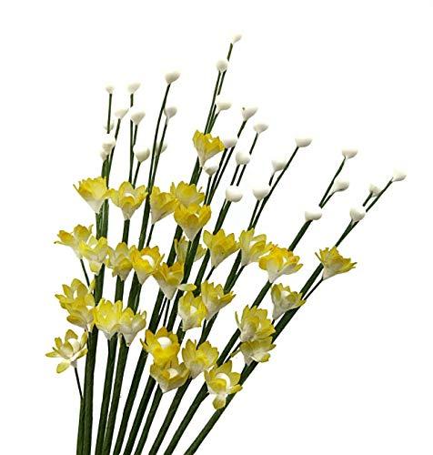 Nava Chiang Gladiolen Maulbeer-Papier Blumen, Dekoration Handwerk, Scrapbook Craft Blume Papier Mulberry Flowers Bouquet Hochzeit Puppenhaus, künstliche Craft Blumen. gelb