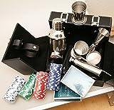 Neu: Spiel Casino Poker Set/Cocktail Set im Koffer Pokerkoffer Pokerset