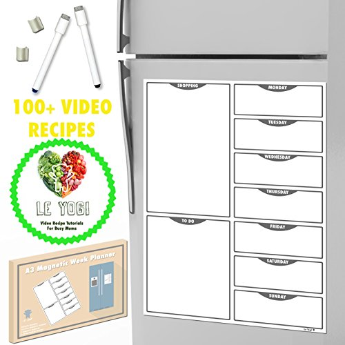 a3-magnetic-kitchen-meal-planner-dry-erase-diet-organiser-memo-board-with-2-magnetic-markers-100-vid