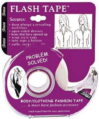 abbb576912 Braza Flash tape Women s Bra Clear One Size (Regular)