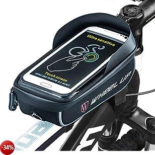 Ziroom Borsa da bici Borsa da manubrio per bici Supporto per telefono bici 6 inch Porta Cellulare Bici Borse manubrio per biciclette, Borse Biciclette Supporto Bici MTB BMX, Accessori Bici