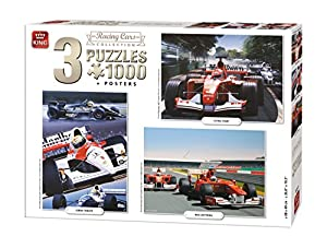 King Racing Cars Collection 3in1 Racing Cars Puzzle - Rompecabezas (Puzzle Rompecabezas, Deportes, Adultos, Ivan Berryman, Hombre/Mujer, 8 año(s))