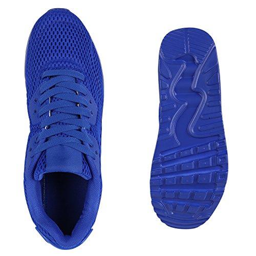 Herren Sportschuhe Laufschuhe Sneakers Runners Profilsohle Blau Full