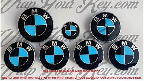 Nero & azzurro BMW M Sport distintivo emblema Overlay Hood tronco cerchioni Fits all BMW