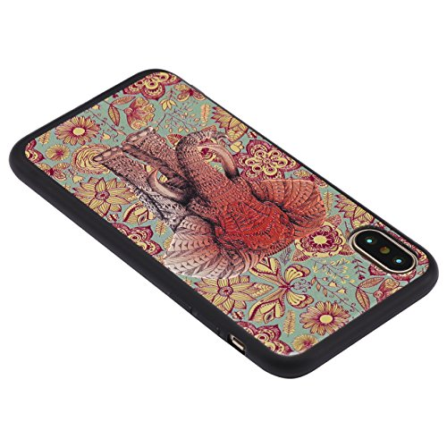 iPhone X Hülle, iPhone 10 Hülle,AyiHuan Painted TPU Silikon Schale Scratch-Resistant Ultra Slim Fit Zurück Hülle Case für Apple iPhone X (5,8 Zoll) ,L2 L5