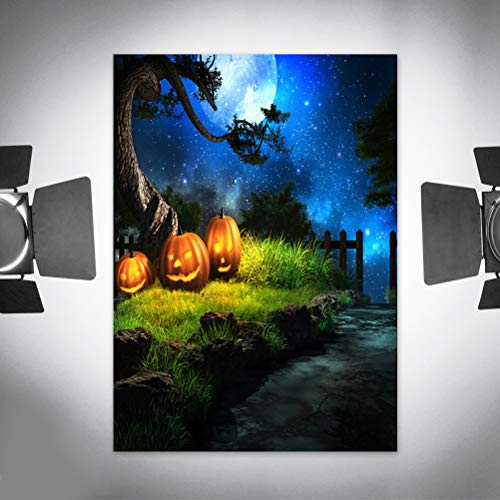 90 * 150 cm 3D Halloween Creepy Kulisse Realistische Horror Kürbis Scary Woods Hintergrund für Parteien Fotografie Studio Photo Booth