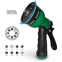 Becko Lawn ugello/Impugnatura a pistola manuale da giardino irrigazione spruzzatore con 8motivi regolabile per irrigazione piante/Giardino o lavaggio auto/doccia per animali domestici