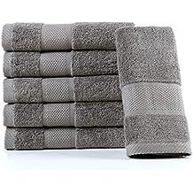 Sumc Toallas de Mano Toallas de toallitas 600GSM de 6 Piezas Toallitas de Cara Altamente Absorbente