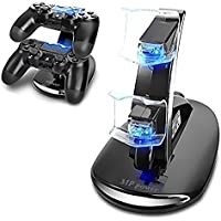 MP power @ Doppio Caricabatterie Station Dock supporto basetta base stazione di ricarica per Sony Playstation 4 Dualshock 4 PS4 ps 4 Controller gamepad joypad