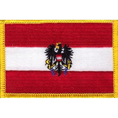 Patch zum Aufbügeln oder Aufnähen : Oesterreich mit Adler Österreich - Groß (Nähen Adler)