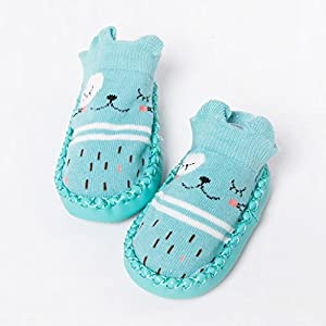 Falaiduo Newborn Toddler Baby Girls Boys Anti-Slip Socks Slipper Boots for 0-4 Years