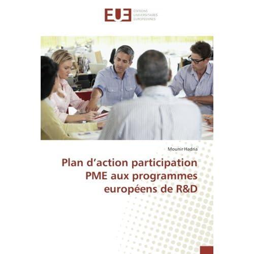Plan d'action participation PME aux programmes européens de R&D