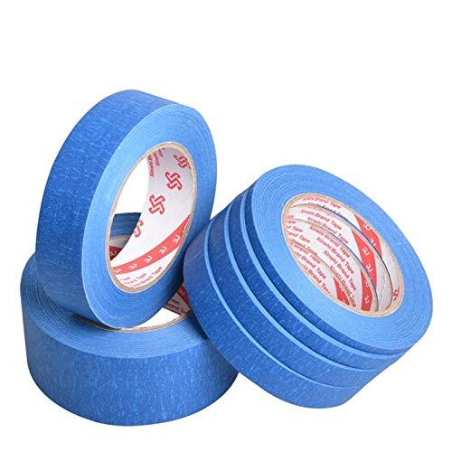 Blau Masking Tape 50 Meter Für Auto Malerei Wandmalerei Nagel Malerei Dekoration sprühfarbe masking dekoration kanngeschrieben,50Mt, 5 Roll 6mm x 50 Mt, China