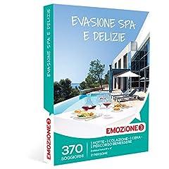 Idea Regalo - Emozione3 - Cofanetto Regalo - EVASIONE SPA E DELIZIE - 370 soggiorni da sogno in hotel 3 e 4 stelle