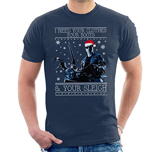 I Need Your Clothes, Your Boots and Your Sleigh Xmas T-shirt