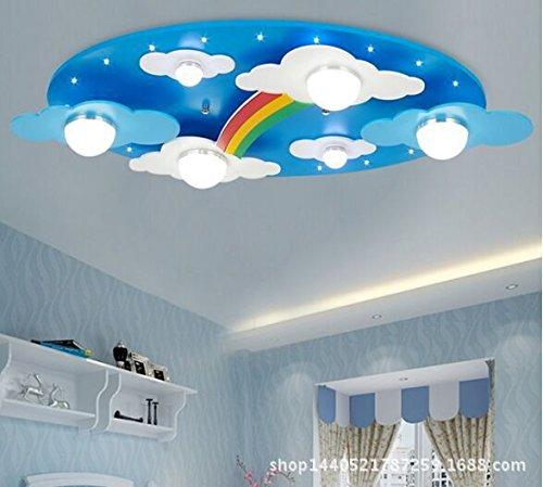 BGmdjcf Luci arcobaleno nuvole Cartoon di luce LED bambini occhio cartoon camera da letto lampada (Oro Rotonda A Cupola A Soffitto)