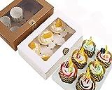 Chilly, Geschenkschachteln mit Sichtfenster für hausgemachte Kekse / Plätzchen / Muffins / Brownies, dekorativ 6 Holders