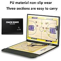 HUYUHAN Tactical Board Coach magnético – Cuero perfecto y plegable para baloncesto, voleibol, fútbol, Basketball